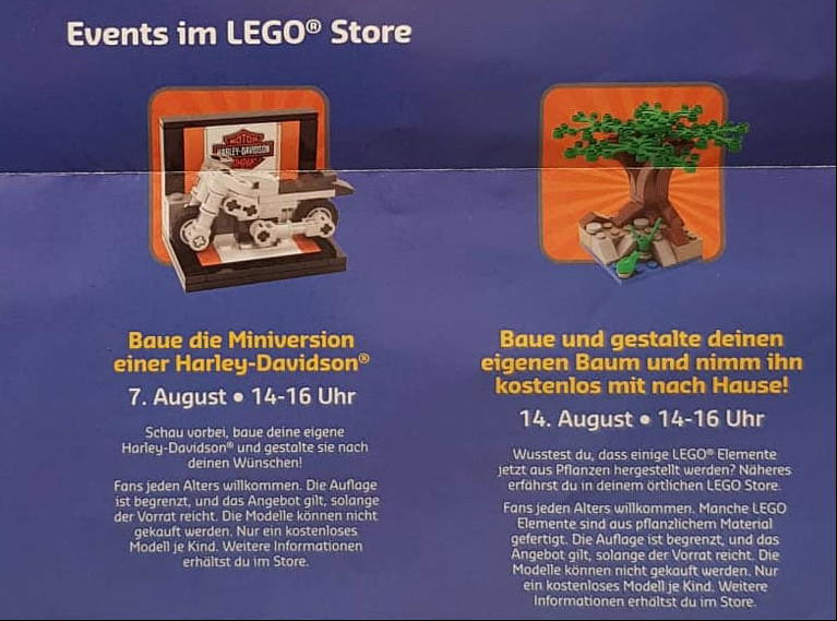 Lego Store mini builds...