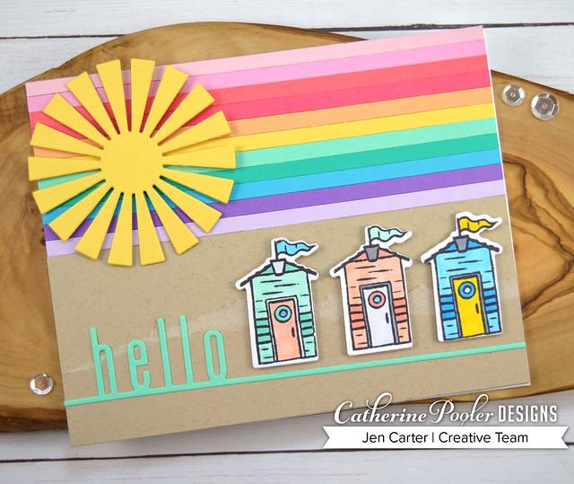 By the Sea Rainbow Houses JenCarter