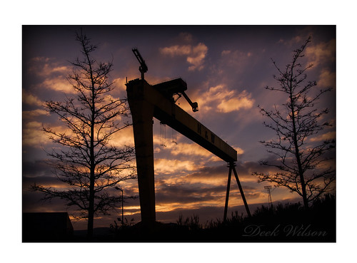 goliath samson harlandandwolff hw belfastshipyard quensisland sunset silhouette sky northernireland belfast landmark crane gittersteigen