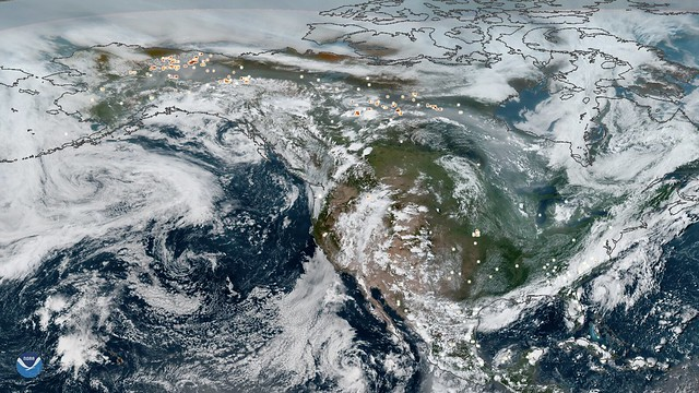 NOAA Satellites Monitor Arctic Wildfires