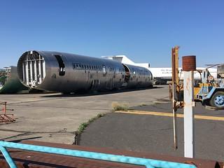 Boeing 757 fuselage Moses Lake 23-07-19