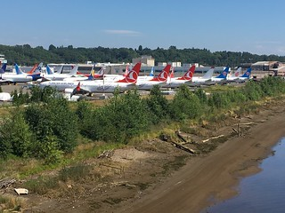 Boeing Field line-up 22-07-19