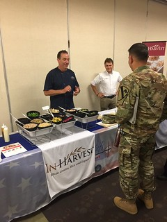CW2 Perez Talking with Chef Mike and Hunter form In Harvest