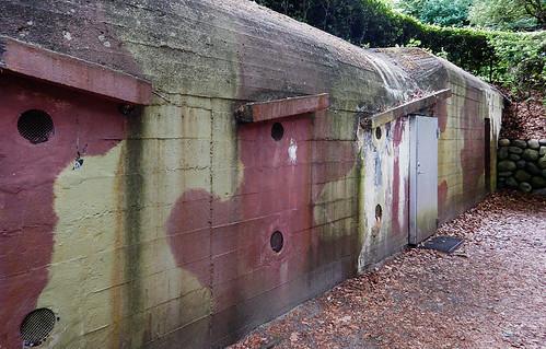 Camouflaged bunkers in the Sculpture Garden at Silkeborg in Denmark