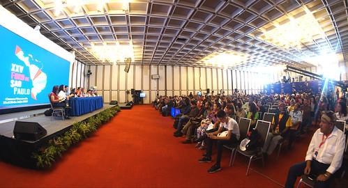 Movimientos sociales y partidos políticos de izquierda debaten en el XXV Foro de Sao Paulo