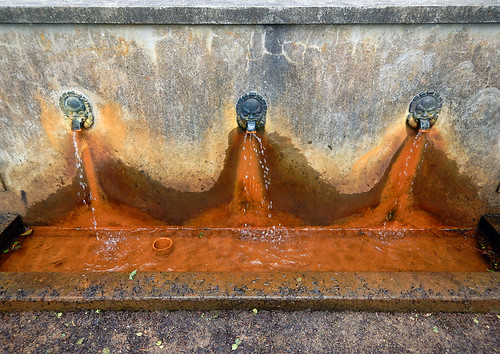 At one time the Sculpture Park (KunstCentret Silkeborg Bad) was a spa (famous for its rusty waters?!) This fountain was part of the spa which was first established in 1883.