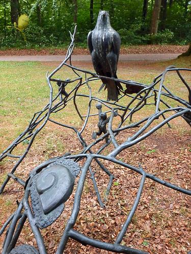 Jungle gym type sculpture at the Sculpture Park (KunstCentret Silkeborg Bad) in Silkeborg, Denmark