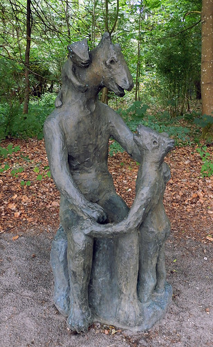 'Story time for little horses' sculpture at the Sculpture Park (KunstCentret Silkeborg Bad) in Silkeborg, Denmark