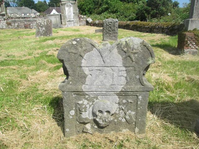 old gravestone, Strathmiglo, Fife, Scotland