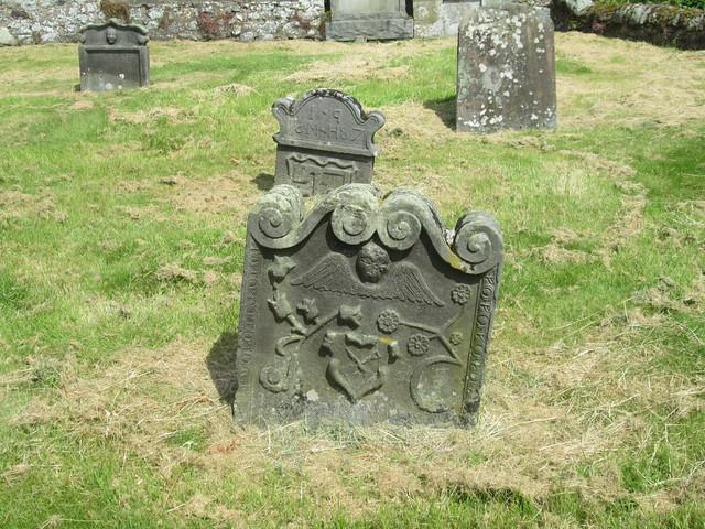 old gravestone , Strathmiglo, Fife, Scotland