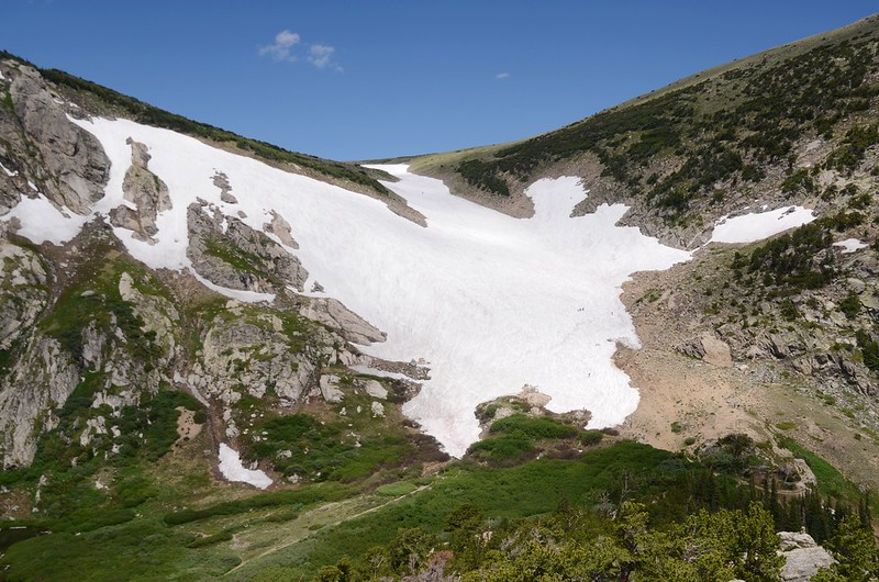 Looking down at Saint Mary's Glacier from Fox Mountain summit (3)