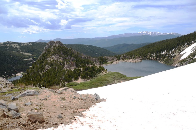 Looking down at Fox Mountain & St. Mary's Lake from St. Mary's Glacier (3)