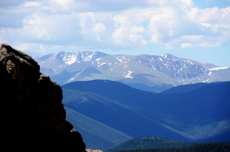 Looking south at Mount Evans & Bierstadt from Fox Mountain summit
