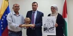 En Palestina una delegación del Golán Sirio se solidariza con Venezuela