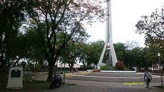 A 25 meters tri-pillar obelisk and a marker indicating the history of Sta. Ana wharf found here at Magsaysay Park.