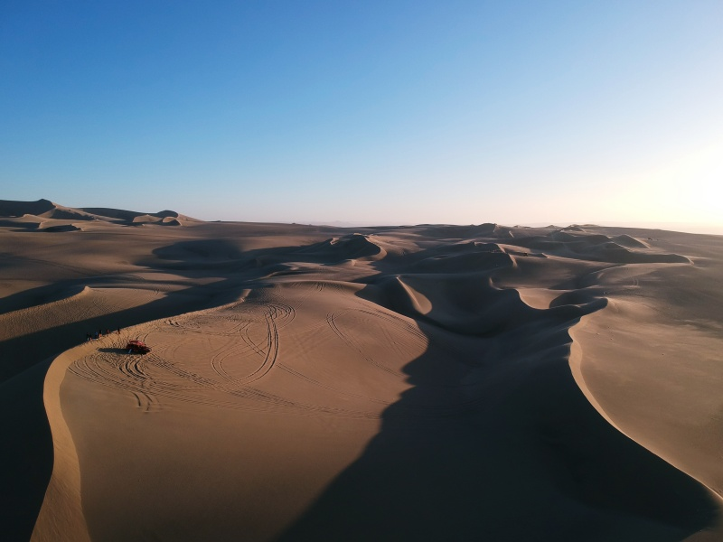 drone over Huacachina