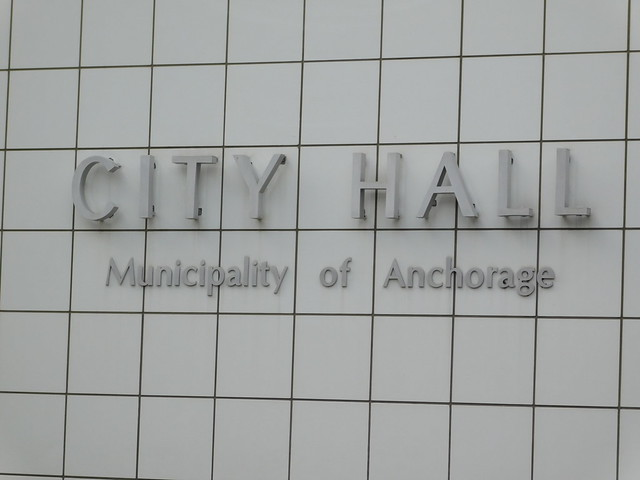 Anchorage City Hall Sign