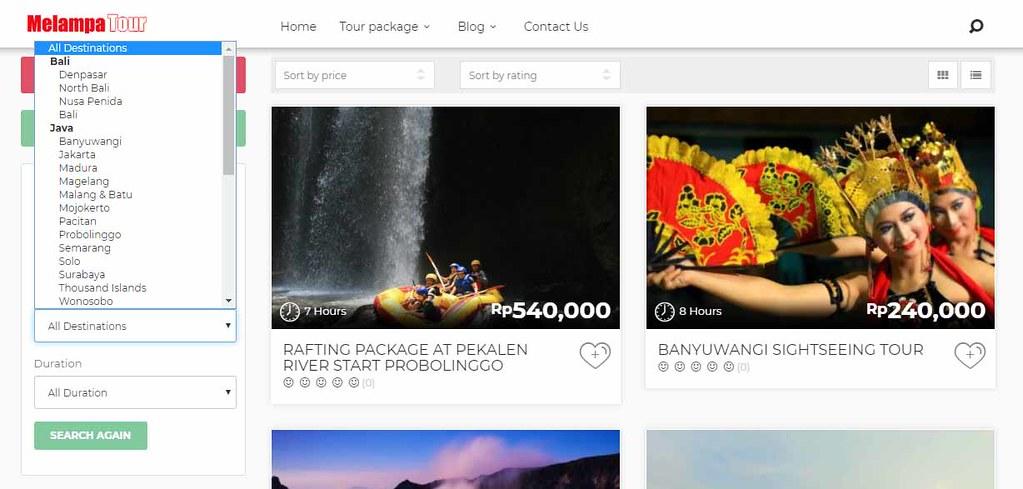Tour Destinations Selection - Melampa Tour Indonesia