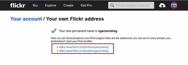 thay đổi thông tin flick account