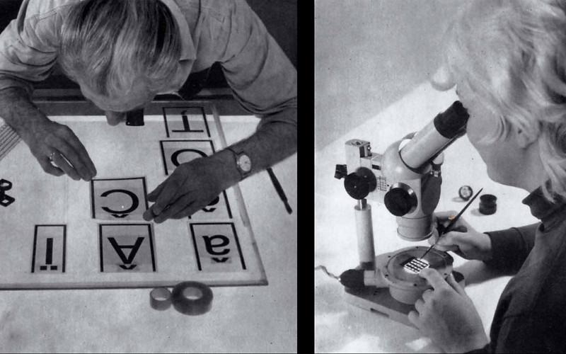 Photo-type production at VEB Typoart