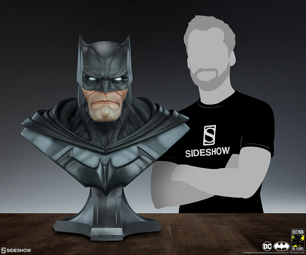 壓倒性的強悍魄力! Sideshow Collectibles DC Comics【蝙蝠俠】Batman 1:1 比例半身胸像作品