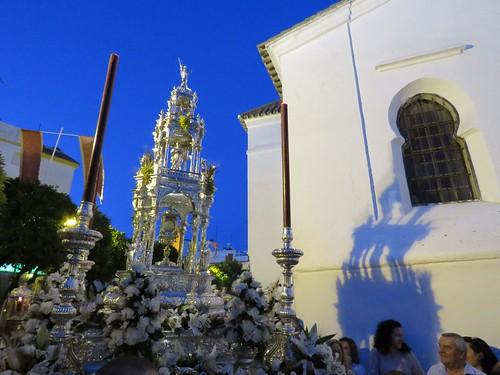 Corpus de Sanlúcar La Mayor. Altares y Custodia