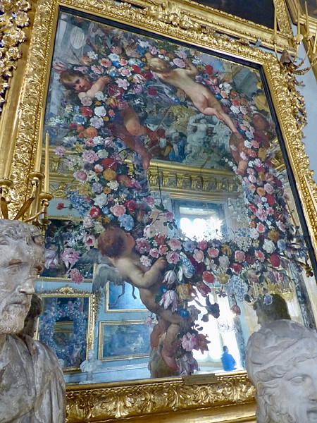 miroirs peints