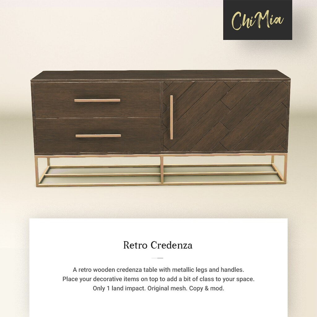 Fifty Linden Fridays 26 July 2019: Retro Credenza by ChiMia - TeleportHub.com Live!