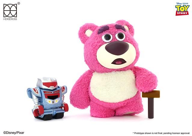 超級療癒的毛絨絨觸感!! HEROCROSS H.M.F. 系列《玩具總動員3》熊抱哥 Lotso HMF#081