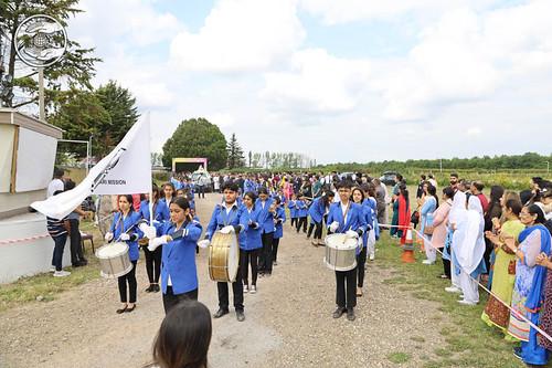 Sewa Dal leads Welcome procession