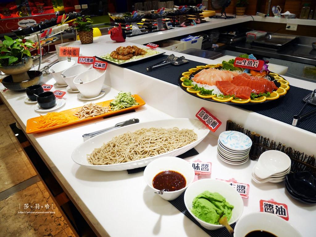 台北素食吃到飽推薦蓮池閣素菜餐廳港式點心生魚片涼麵 (2)