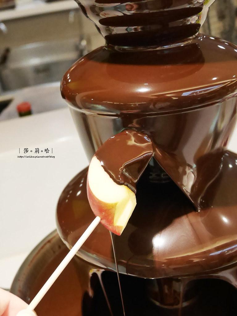 台北蓮池閣素菜餐廳吃素食巧克力鍋甜點吃到飽推薦
