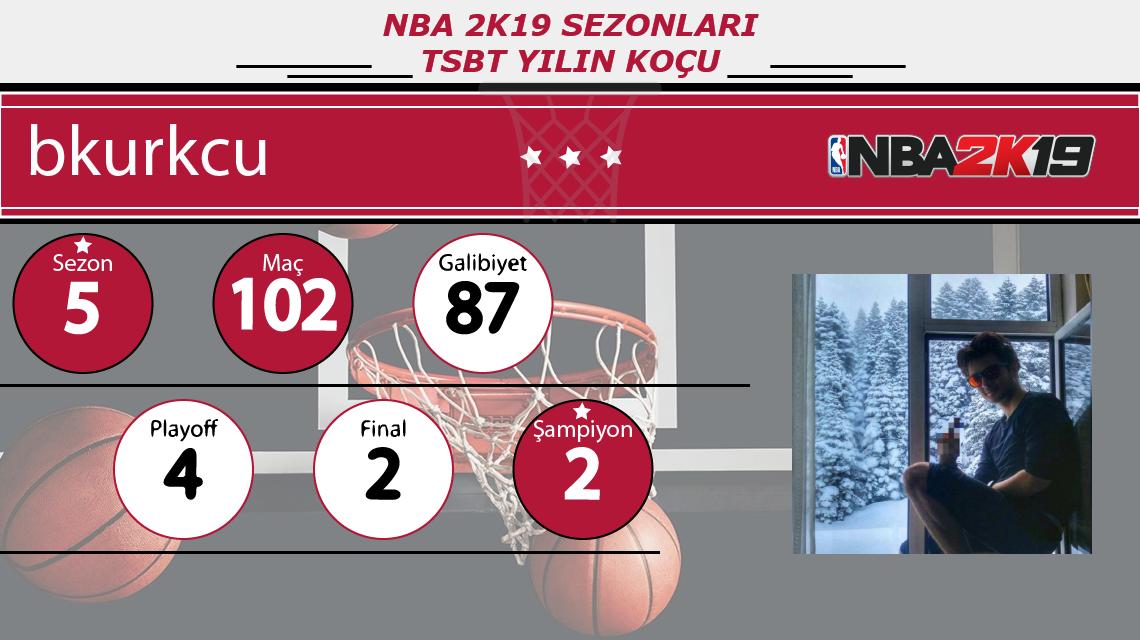 TSBT NBA 2K19 Sezonları Yılın Koçu - bkurkcu