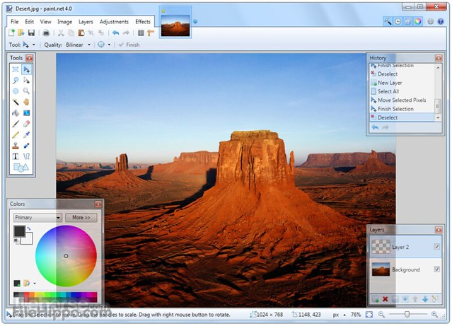 Paint.Net giao diện