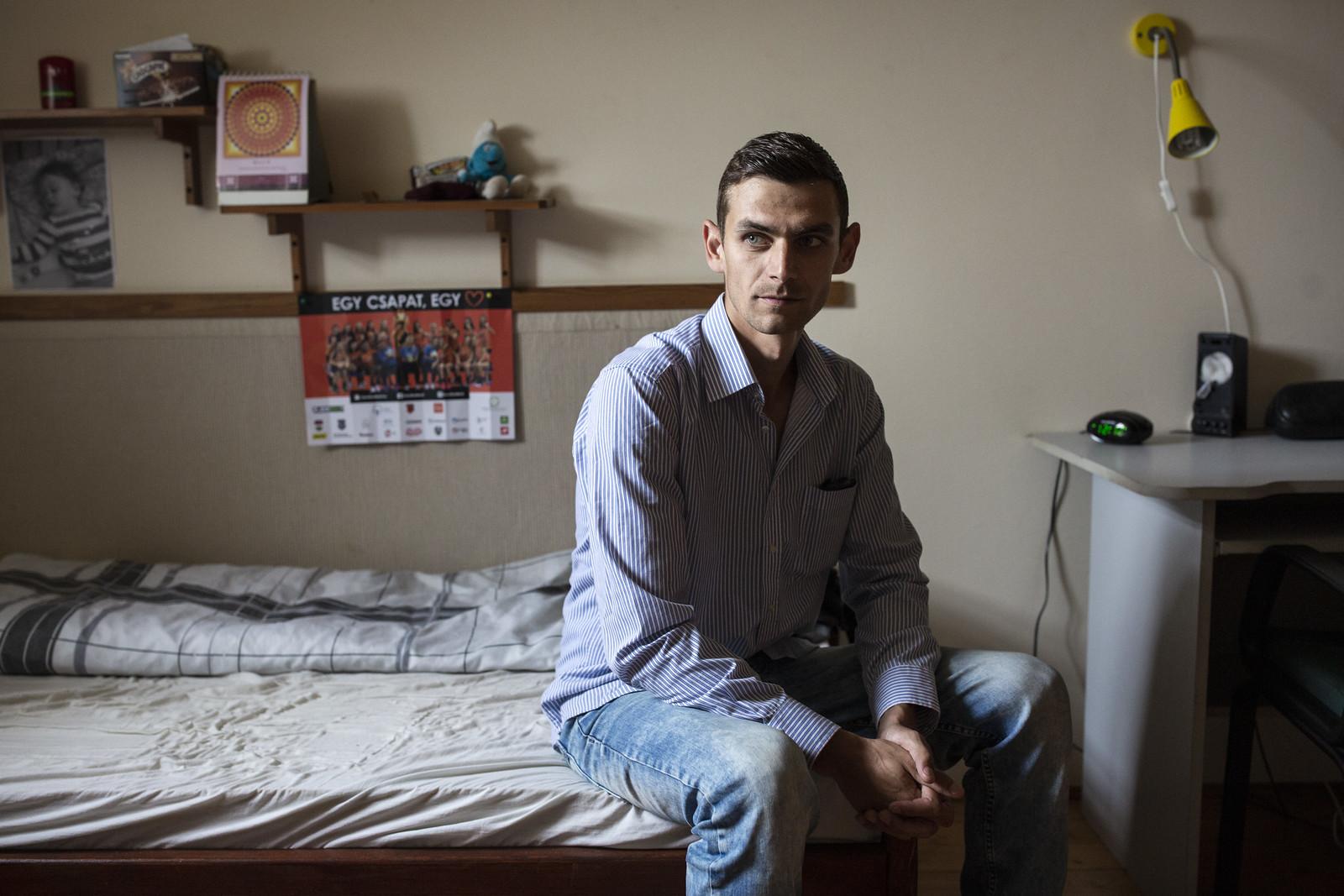 A 26 éves Burai Béla a ráckeresztúri rehabilitációs központban | Fotó: Végh László
