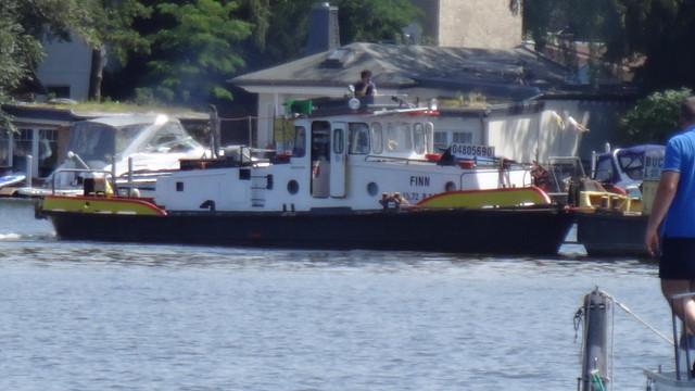 1970 Schleppboot MS Finn Typ V von VEB Yachtwerft Köpenick auf der Dahme in 12527 Berlin-Schmöckwitz