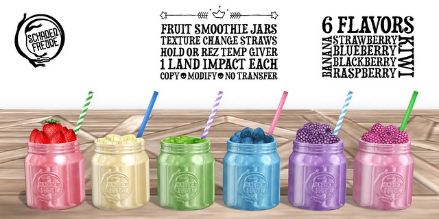 fruit smoothie jars