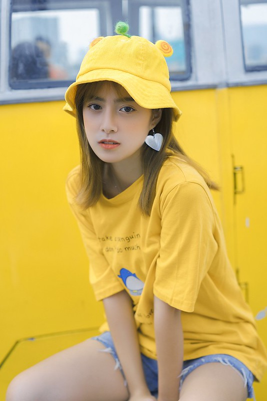 stock yellow girl