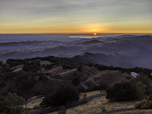 Sunset View Towards the Coast from the Licks Observatory San Jose California