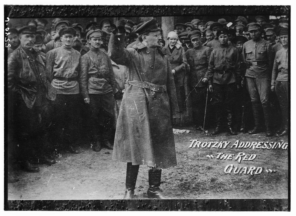 Trotzky ]i.e. Trotsky] addressing