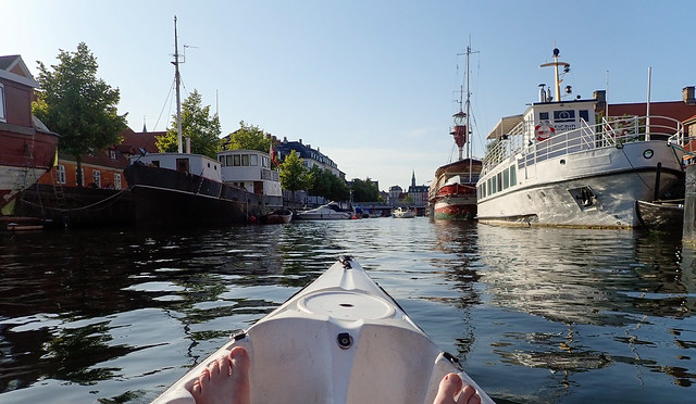 Kayak in Copenhagen Harbour