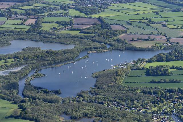 Wroxham Broad aerial image