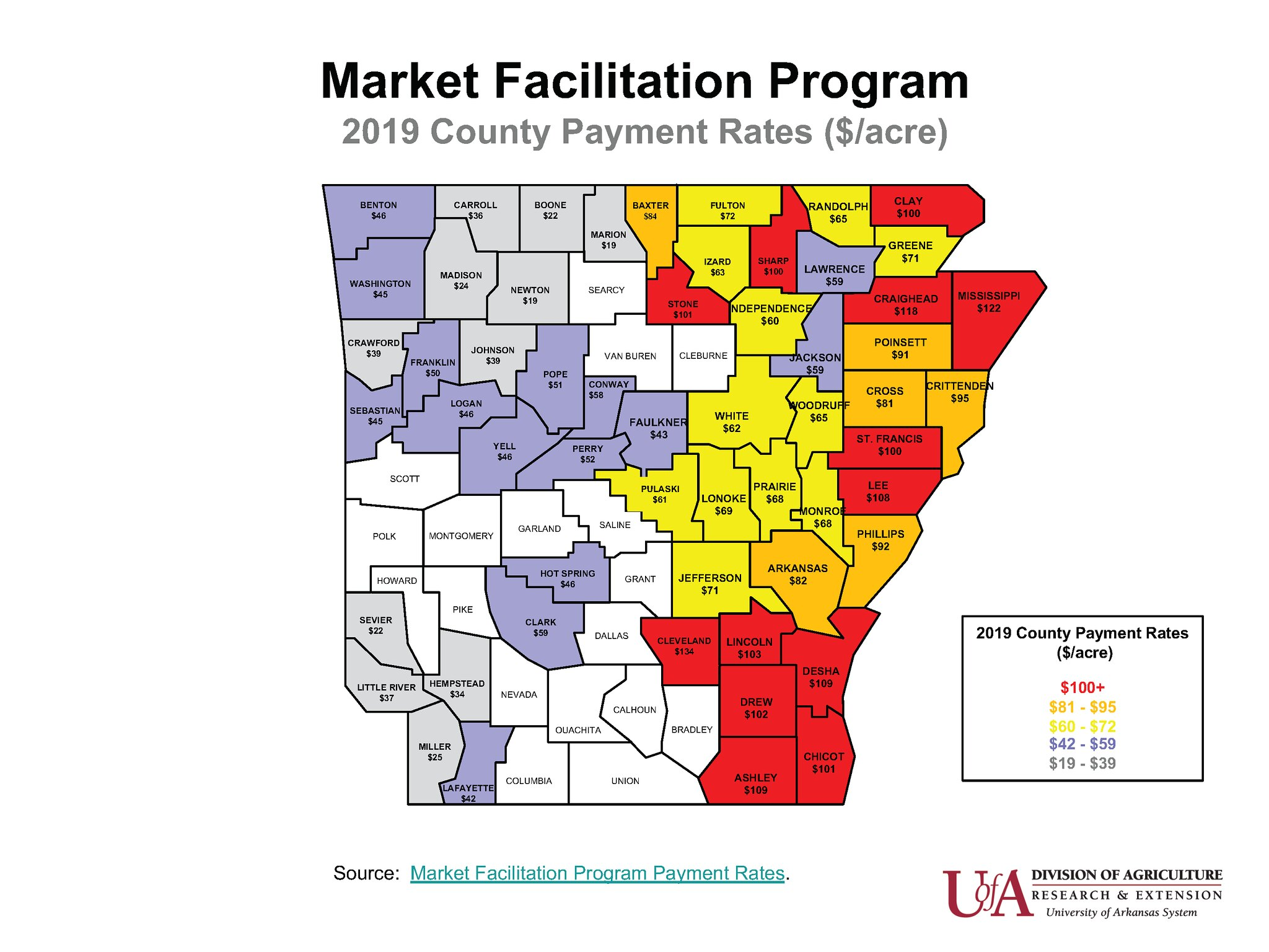 2019 MFP county rates map