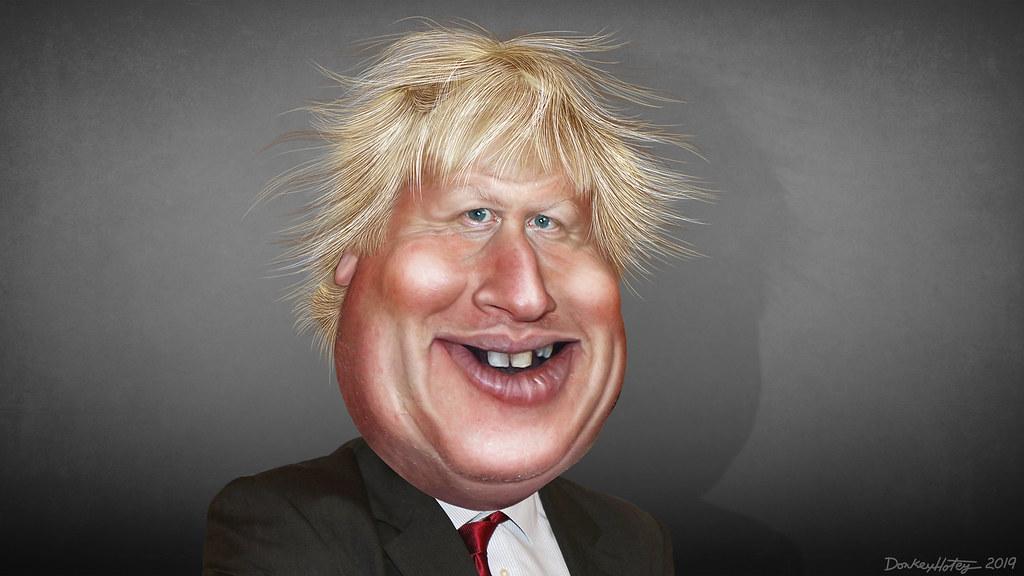 Resultado de imagen para Caricatura de Boris Johnson