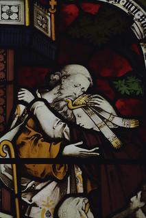 Meonstoke, Hampshire, St. Andrew's church, chancel, east window, Joseph