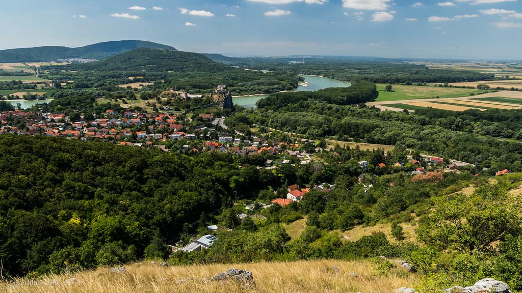 Old castle Devín and landscape