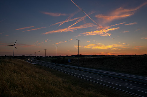 sunset sky orange sun landscape evening eveningsky highway raod