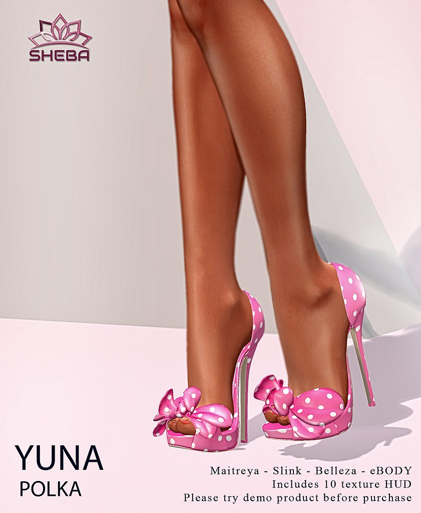 Yuna Polka Heels  @FBF