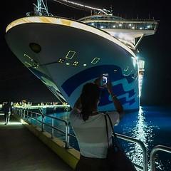 Último embarque de la travesía. Este es el puerto de Cozumel en Mexico. Foto inception con @flavu apuntando. Ya nos bajamos :grimacing: #cozumel #mexico #canong7xmarkii #caribbeanprincess #caribeconprincess @princesscruises_ar