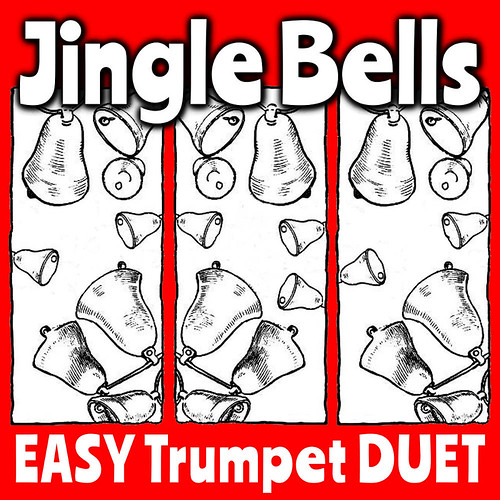 Jingle Bells EASY Trumpet Duet